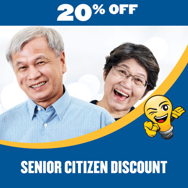 electrician senior citizen discount