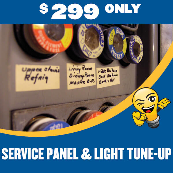 electrician service panel light tune up